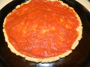 with Gluten free pizza sauce