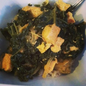 Chicken and Kale Curry
